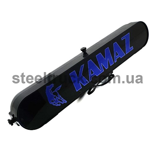 Табличка диодная KAMAZ, синяя, 002-0111