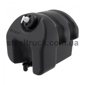Бак-рукомойник, пластик,  черный 18 литров., 601040400, 010-0044