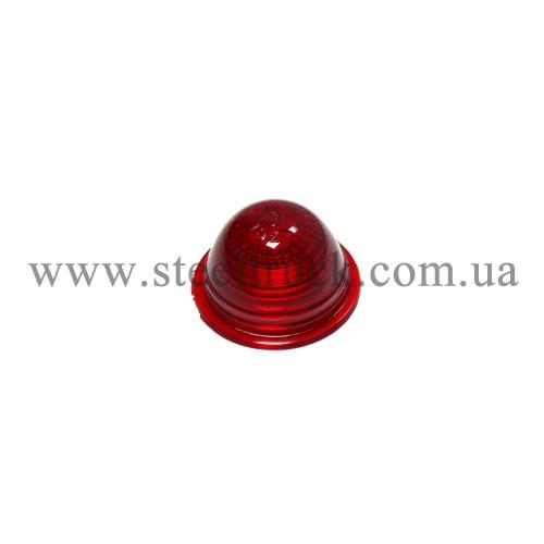 Стекло габарита заноса прицепа малое (красное), 016-0003, 016-0003