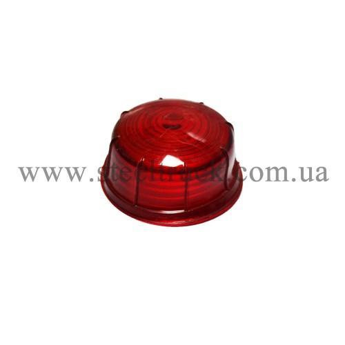 Стекло габарита заноса прицепа большое (красное), 016-0005, 016-0005