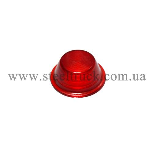 Стекло габарита заноса прицепа среднее (красное), 80102184, 016-0009