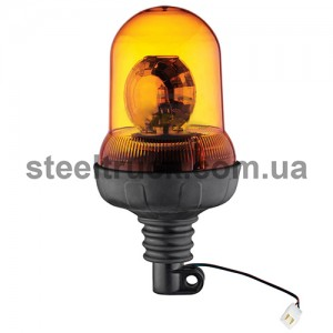Маячок оранжевый проблесковый, лампочка 12V,  с креплением на штангу, TR-517-2, 045-0016