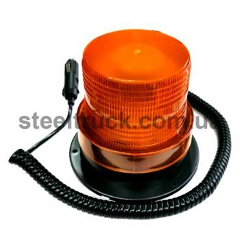 Маячок оранжевый диодный 12-24V с линзой Френеля и магнитным креплением, TR-520, tr-520, 045-0011