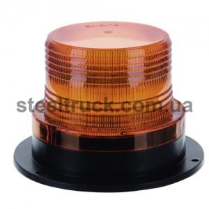 Маячок оранжевый LED 10-36V с линзой Френеля магнитным креплением низкий, 201704-0/36, 045-0013