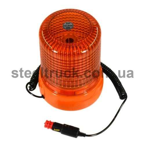 Маячок оранжевый LED 12/24V на магните, 045-0014