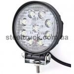 Фара универсальная диодная LED круглая (9 диодов 21W), 052-0094