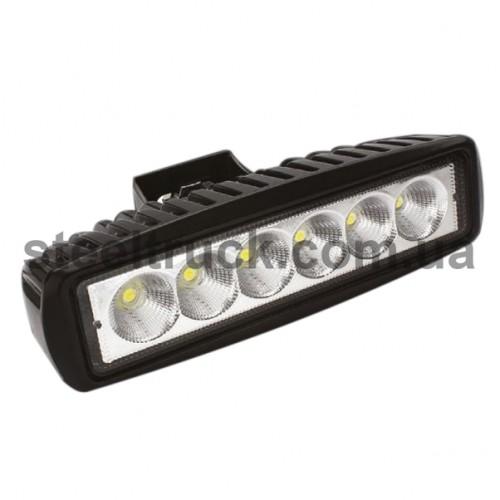 Фара универсальная LED 10-48 V (6 диодов 18W), BAD804, 052-0145