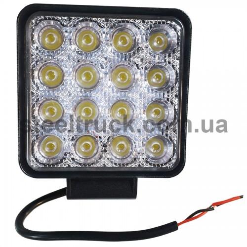 Фара дополнительная LED (48W 16 диодов) квадрат, 052-0139