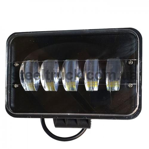 Фара универсальная диодная LED (5 диодов 75W), 052-0138