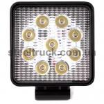 Фара дополнительная LED (27W 9 диодов) квадрат