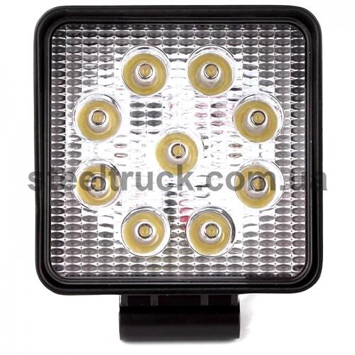 Фара дополнительная LED (27W 9 диодов) квадрат, 052-0146