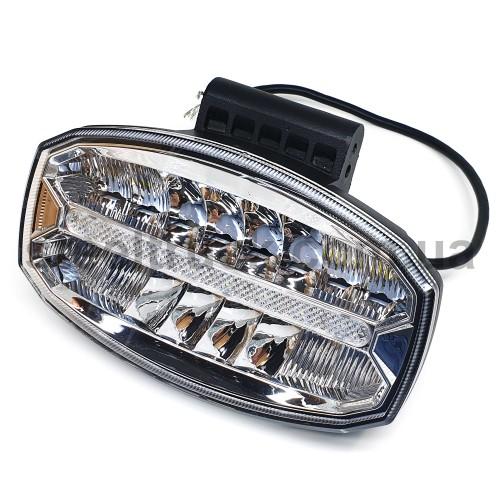 Фара дополнительная с LED подсветкой 240х140мм, 9-32V, 80W, 4500K, B-114, 052-0148