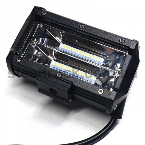 Фара универсальная LED (24 диода 72W) широкий луч 4400 лм, 5 режимов, 052-0150