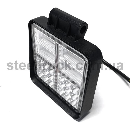 Фара универсальная LED (38 диодов корпус квадратный, металл), 052-0153
