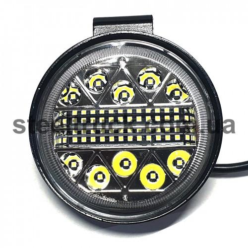 Фара универсальная  LED (38 диодов корпус круглый металл), 052-0154