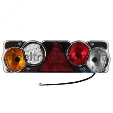 Фонарь задний универсальный WAS диодно-ламповый с проводом, левый, 13-02-01-0038, 020-0098