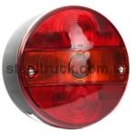 """Фонарь задний 12V-24V """"гамбургер"""" (стоп-габаритный фонарь-указатель поворотов, подсветка номерного знака), левый (WAS)"""