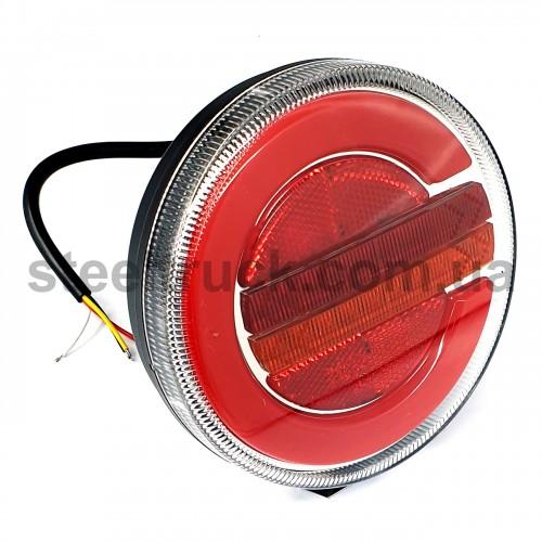 Фонарь задний комбинированный, 10-30V 140х38 мм, круглый, LED, правый (FERZE)