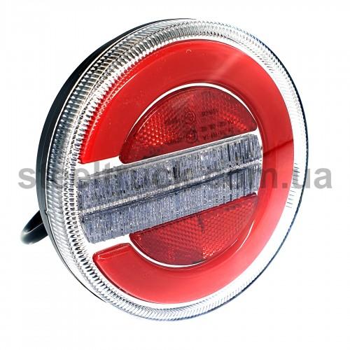 Фонарь задний комбинированный, 10-30V 140х38 мм, круглый, LED, левый-правый (FERZE)