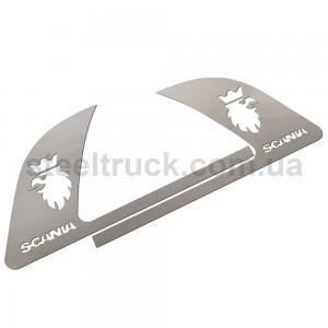 Накладка ручки двери SCANIA (нержавеющая сталь), 081-0001