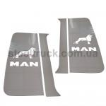 Накладка на кабину спальник- дверь MAN TGA, TGX, TGL (нержавеющая сталь)