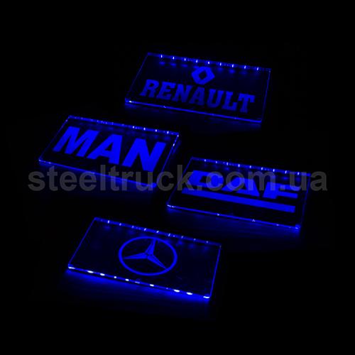 Табличка светодиодная с включенной подсветкой
