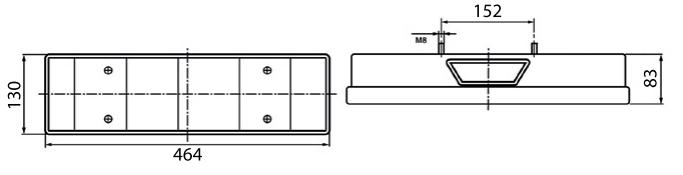 Фонарь задний левый DAF с фишкой AMP